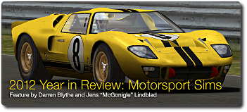 2012 Year in Review: Motorsport Sims